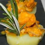 Tapa rústica con patata cocida
