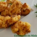 Buñuelos de puré de patata y picadillo de Soria