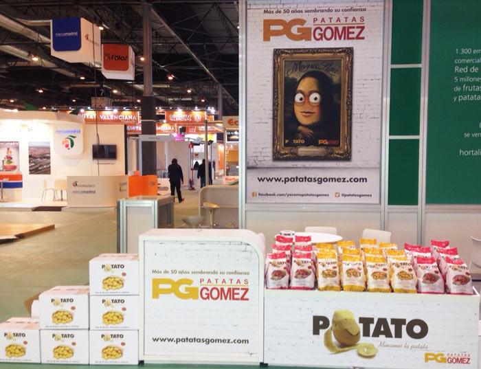 Expositor de Patatas Gómez en Fruit Attraction 2014