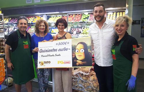 Entrega de los 500 € de Potato