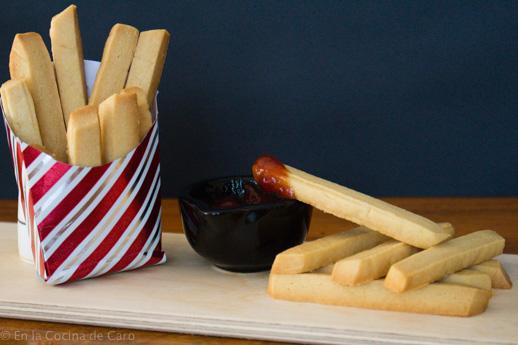 Trampantojo con patata: patatas con ketchup