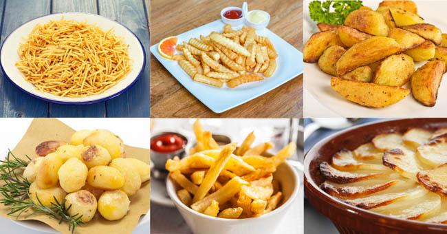 Tipos de cortes de patatas