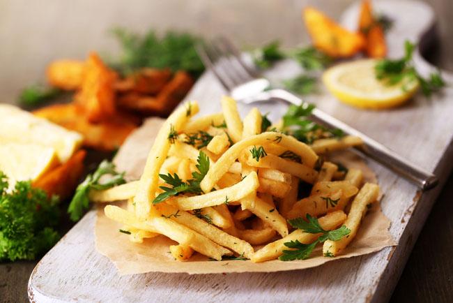 Cortes de patatas: patata en bastón