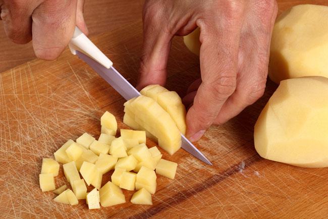 Cortes de patatas: patatas carré