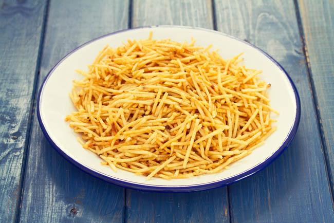 Cortes de patatas: patata paja