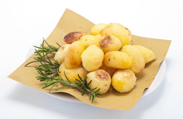 Cortes de patatas: patatas torneadas