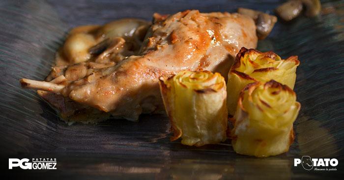 Rosas de patata como guarnición
