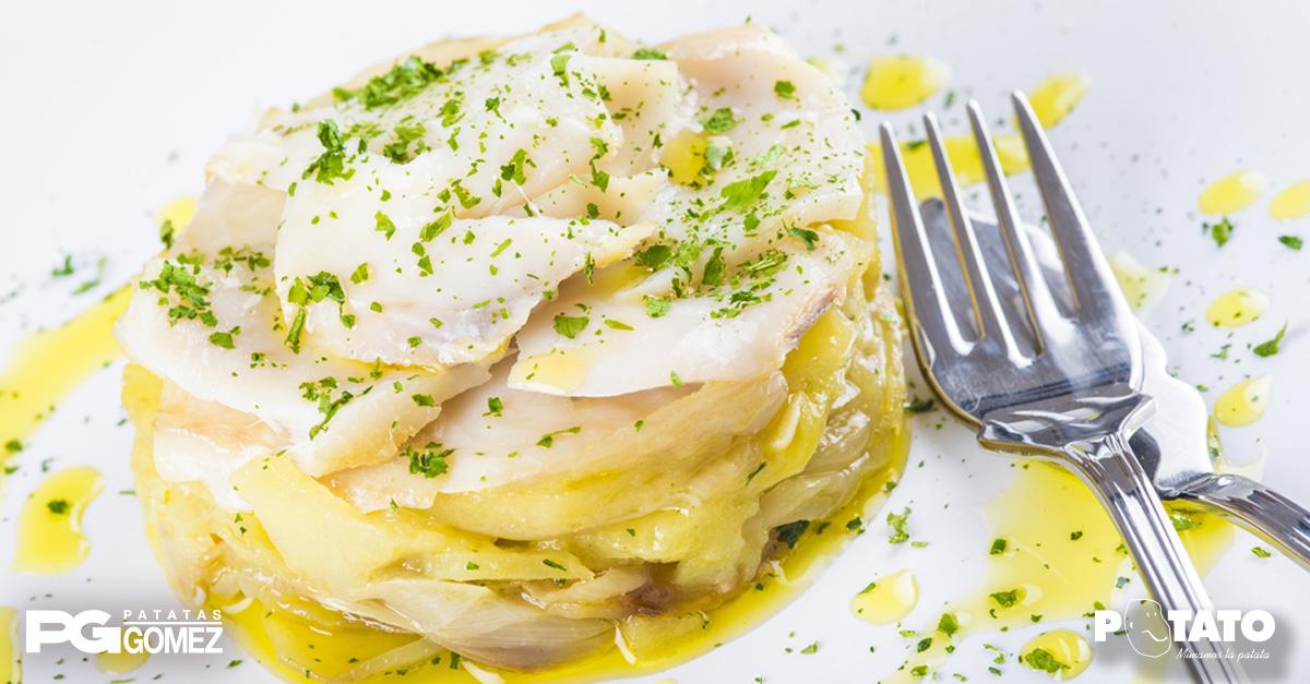 receta merluza al horno con patatas gomez