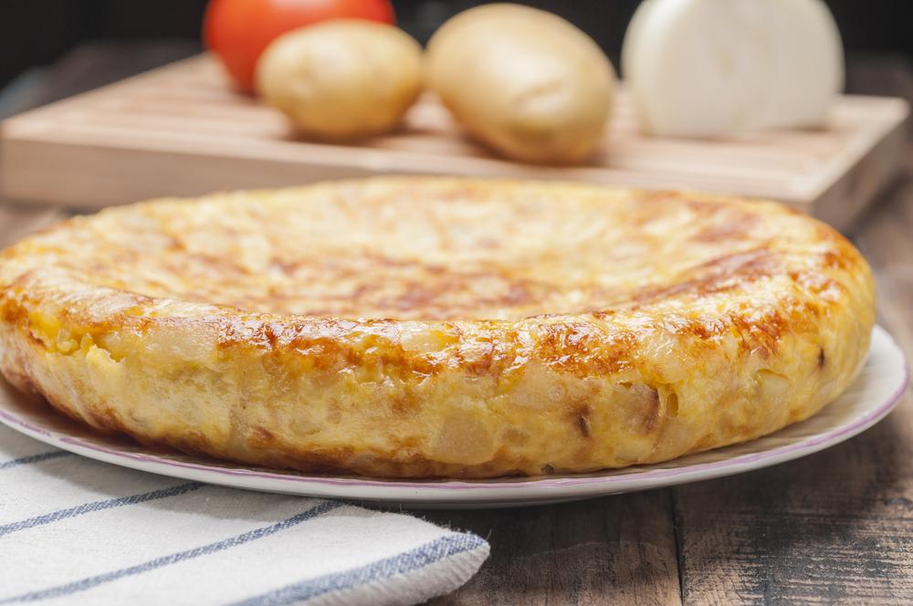 receta de tortilla de patatas ligera
